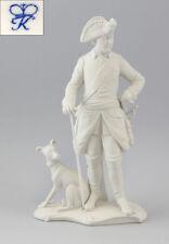 Kämmer Bisquit Porzellan Figur Alter Fritz Friedrich II. mit Hund H25cm 9944117