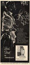 "1951 Yardley ""Bond Street"" Perfume Vintage Bottle Fashion ART PRINT AD"