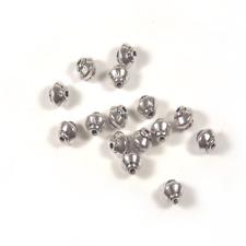 100 Perles Intercalaires Toupie en métal argenté 5mm x 4.5mm