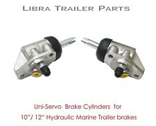 "2 hydraulic uni-servo cylinders for 10""/12"" hydraulic marine trailer brake 21044"
