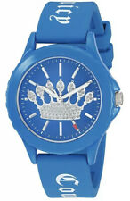 NWT Juicy Couture Women's Silicone Watch Blue JC1001 MSRP $75