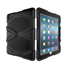 For iPad 2 3 4 Shockproof Military Armor Rubber Hard Case + Screen Protector