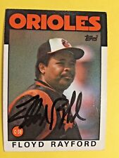 1986 Topps Floyd Rayford Baltimore Orioles  auto signed autograph