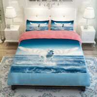 3D Flying Horse 53 Bed Pillowcases Quilt Duvet Cover Set Single Queen King AU