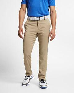 Nike Mens Slim Fit 6 Pocket Khaki/Tan Golf Slim/Dri Fit Pants-New-32/32