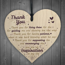 Thank You For Being There Wood Heart Love Friendship Plaque THANK YOU Gift Sign