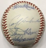 Tommy Lasorda Steve Howe Bob Welch 1983 LOS ANGELES DODGERS Team Signed Baseball