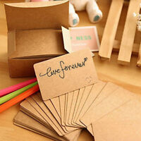 DIY Gift Card 100pcs Blank Kraft paper Business Cards Word Card Message Card New