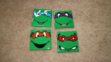 Lot ofd 4 Ceramic coasters Ninja turtles Men's Gift Emo Gamer Humor Fun Birthday
