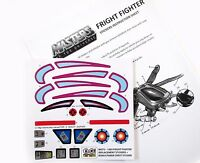 MOTU Masters of the Universe replacement stickers for 1985 FRIGHT FIGHTER DIECUT