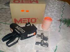 Meto 8505 Price Gun Label Sticker 2-Line Pricing Gun +Manual+ 4 Tag rolls+ Box