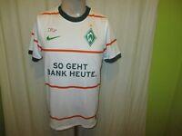 """Werder Bremen Nike Auswärts Trikot 2009/10 """"SO GEHT BANK HEUTE"""" Gr.S- M Neu"""
