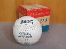 "Vintage Spalding early 1421 Kapok Center Softball 12"" with Orig.Box New Baseball"