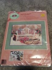 FROM THE HEART SANTA FE BENCH W/ CAT NO COUNT CROSS STITCH #53917