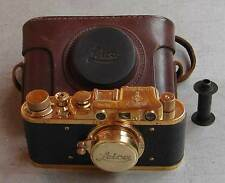 Leica II D Afrika Korps copy gold in leather case (FED Zorki copy)