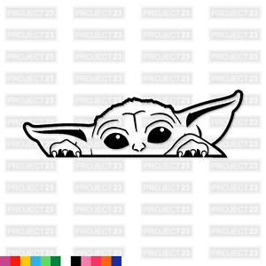 STAR WARS Peaking Baby Yoda Novelty Funny Cute Window/Car/Van Decal Sticker 001
