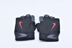 Men's Nike Ultimate Fitness Gloves, Black / Crimson Red, Large