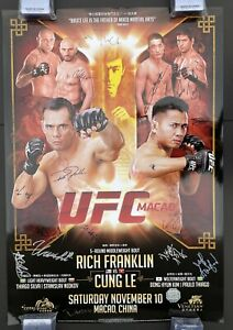 Official UFC Macao Rich Franklin, Cung Le,  Halogram Poster, Pride Fc