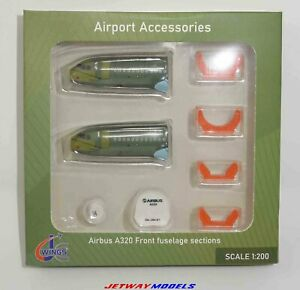 NEW 1:200 JC WINGS FUSELAGE SET AIRPORT ACCESSORIES AIRBUS A320-200 JCGSESETC