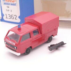 Roco 1:87 1362 Volkswagen Typ 2 Feuerwehr neuwertig in OVP RT3459