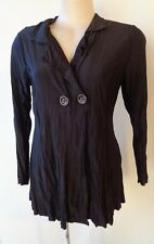 EVERSUN top  New Black size 10 NWT long sleeves two buttons