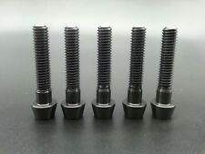 M6X30mm Titanium Ti Taper Head Bolts Allen Hex Headset Screw Black 5Pcs/lot