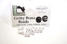 Gritty Brass Beads Ø 3,8mm Hareline 20 ST esibisce OTTONE beads WHITE Grit