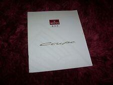 Catalogue /  Brochure  ROVER 800 Coupé 1992? //