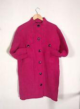 manteau louis feraud overzise fushia vintage laine
