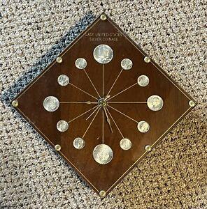 Vintage Last United States Silver Coinage Clock M. K. Summers Model 69 Walnut