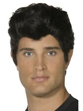 Black Danny Grease 50s Rocker Rock and Roll T-Bird Mens Greaser Costume Wig