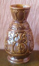 Brown English Sylvac 8-inch Embossed Vase No. 5224.