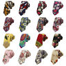 Men's Vintage Paisley Floral Printed Tie Wedding Party Colorful Skinny Necktie