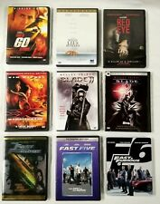 9 Movie Dvd Lot - Xxx Fast Furious Blade I &Ii Red Eye Gone in 60 Seconds Diesel