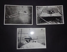 "3 x NAVY SEA RESCUE PHOTOGRAPHS "" Hein Matte"" : Boat Booms /  Royal Navy / 1940s"