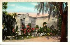 Bradenton Fl Ruins of Braden Castle Manatee Co Florida Postcard Seminole History