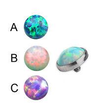 Titan Synth. Opal 1,2mm Dermal Anchor Aufsatz Anker Surface Piercing 2,3,4mm