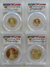 1988 W & P Gold Eagle Michael Reagan Legacy Signature 4 coin set PCGS PR69DCAM