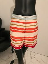 Stella McCartney Striped Deckchair Cotton Silk High Waist Shorts Sz42 $825