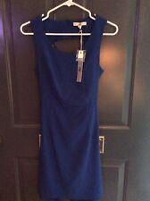 YA Los Angeles Blue Sleeveless Back less Straps Short Dress Size Small NWT