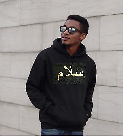 SALAAM SALAM Arabic Printed Hoodie Sweatshirt all colours and sizes FREE P&P