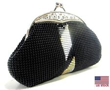 Women's evening clutches Party Prom Wedding Banquet Metal Mesh Purse