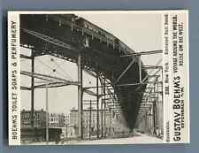 """USA, New York, Elevated Rail Road  Vintage silver print. Photo from the Series """""""