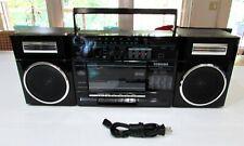RARE Toshiba RT-7016 Black Boombox stereo  Cassette