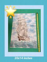 "Marine Tall Ship "" MACQUARIE -""Fortuna"" Original Watercolour  Sailng ship"