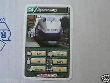 22 SUPER TRAIN C4 SIGNATUR BM73 TREIN KWARTET KAART, QUARTETT CARD
