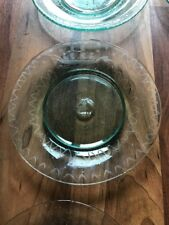 Set Of 8 Antique Glass Plates With Beautiful Ship Engravings