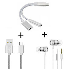 Pack pour NOKIA 9 PureView (Adaptateur Type C/Jack + Cable Chargeur Metal Type C