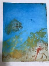 Kaiko Moti Color Viscosity/Aquatint /Etching! With Stanley Hayter! BEAUTIFUL!