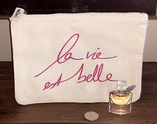 Lancome La Vie Est Belle Eau de Parfum MINI .135 fl oz + Cosmetic Canvas Bag